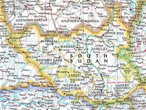 map of the south maps south sudan map
