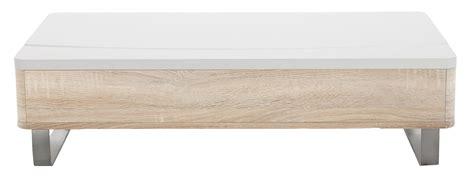 Design Gadgets by Table Basse Blanc Laque Avec Rangement Lyate