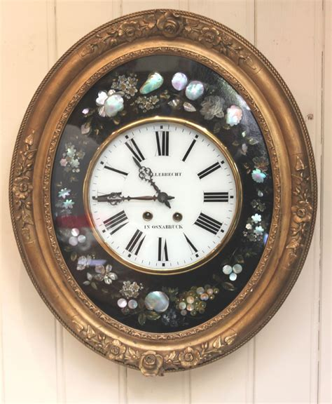 unique wall clock com unusual oval vineyard wall clock 270948 sellingantiques co uk