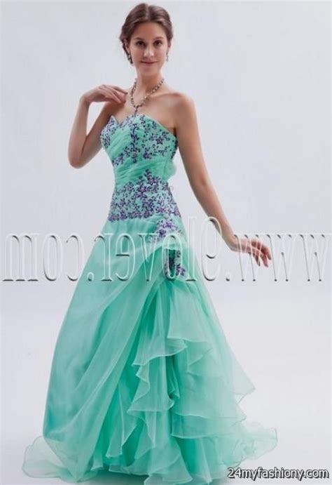 teal wedding dresses 2016 2017   B2B Fashion