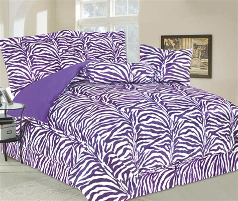 fur bedding sets 5 piece twin zebra faux fur bedding comforter set purple