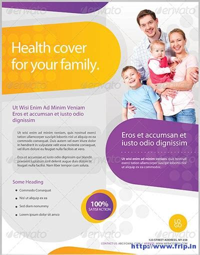 30 Best Insurance Flyer Print Templates Frip In Health Flyer Template