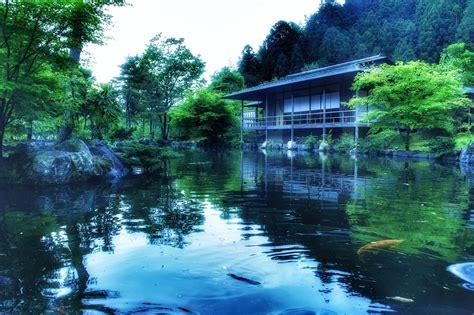 imagenes zen fondo pantalla fondo de pantalla de casa jard 237 n lago agua piedras