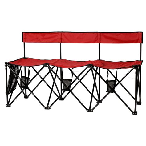collapsible soccer bench travelchair el grande 3 person folding soccer bench