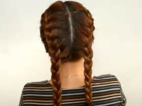 2 braids in front hair hairstyle hair how to style two french plaits 7 steps with pictures