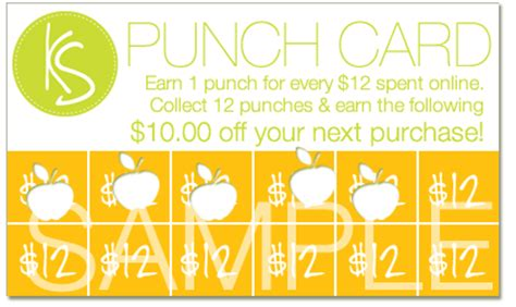 Discount Punch Card Template by Kleanspa Punch Card Program