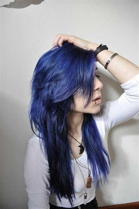midnight blue hair hair and