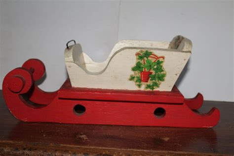 Decorative Sleigh by Vintage Wooden Decorative Sleigh Or Planter Ebay