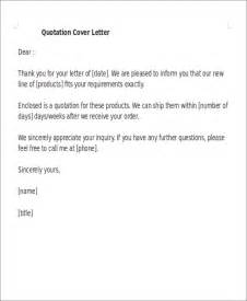 Quotation Cover Letter by 19 Quotation Templates Free Premium Templates