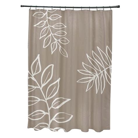 Bathroom Shower Ideas Leaf Pattern Shower Curtain Overstock Shopping The