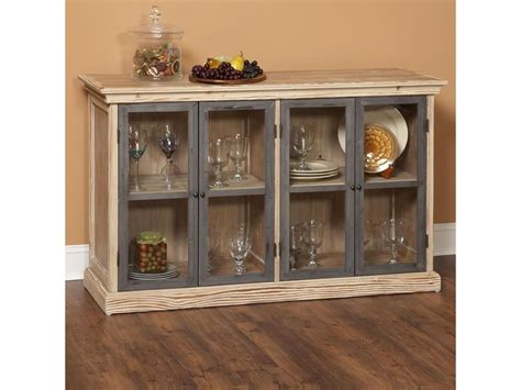 Sideboards Astonishing Glass Door Buffet Glass Door Buffet Cabinet With Glass Doors