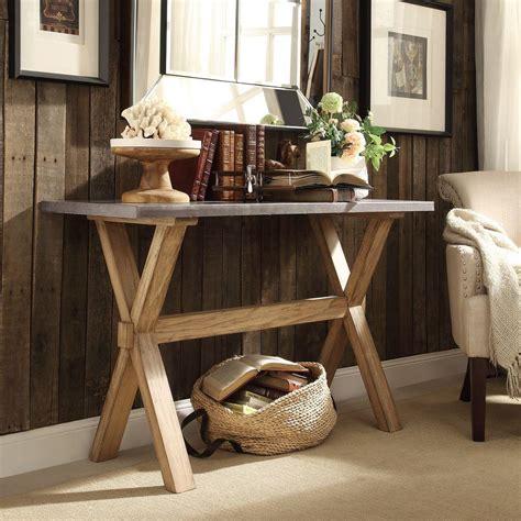Oak Sofa Table by Homesullivan Upton Weathered Light Oak Console Table
