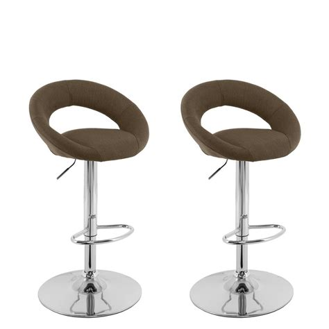 Adjustable Bar Stools Set Of 3 by Linon Home Decor Townsend Adjustable Height Brown