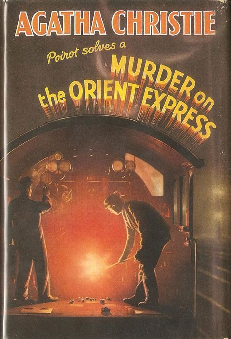 Novel Murder On The Orient Express Cover Agatha Christie book murder on the orient express somewhere i