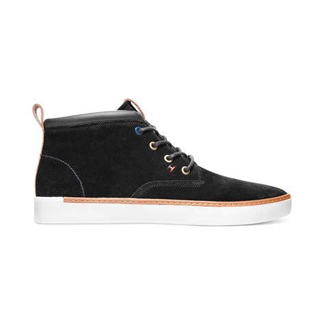 hilfiger chukka boots hilfiger keene chukka boots in black for lyst