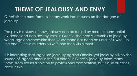othello themes of jealousy and deception shakespeare s othello ppt video online download