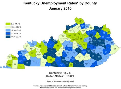 Kentucky Unemployment Office by Claims June 2015