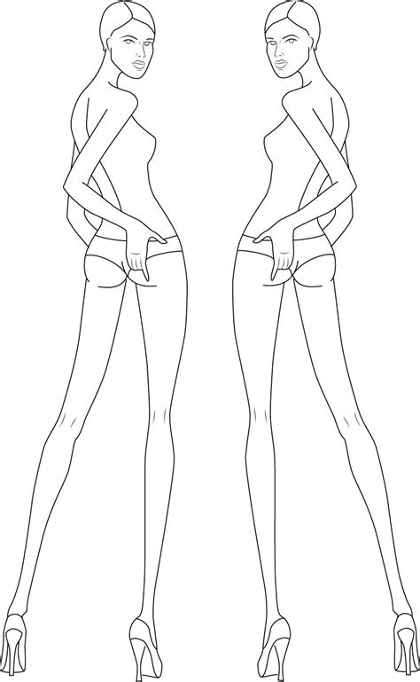 costume drawing template fashion croquis template