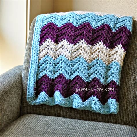 Crochet Blanket Patterns by Ripple Afghan Blanket Crochet Pattern By Freya Esme