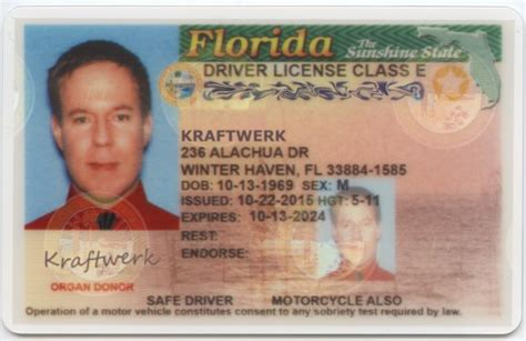 florida state id card template i am kraftwerk how one of ttac s own became a florida
