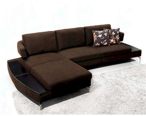 Brown Fabric Sectional Sofa Contemporary Brown Fabric Sectional Sofa 44l1077 Br