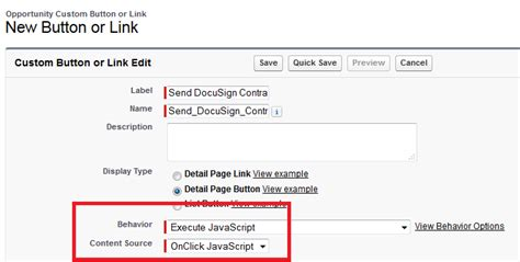 docusign templates how to create a salesforce custom button docusign