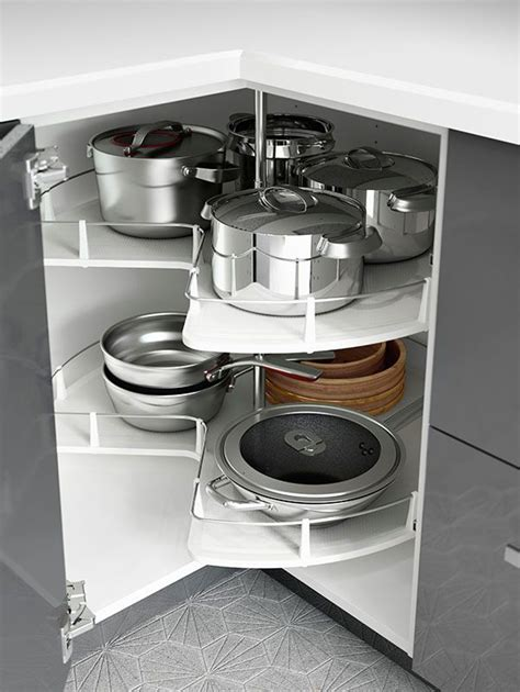Ikea Corner Cabinet Kitchen Small Kitchen Space Ikea Kitchen Interior Organizers Like Corner Cabinet Carousels Make Use
