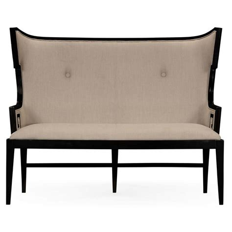upholstered dining settee upholstered dining bench settee swanky interiors