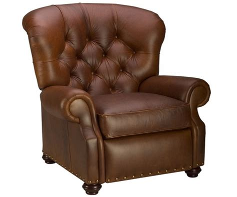 The Back Store Recliners Large Tufted Back Leather Recliner Chair