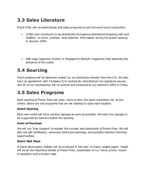 sle business plan fast food restaurant fast food restaurant business plan