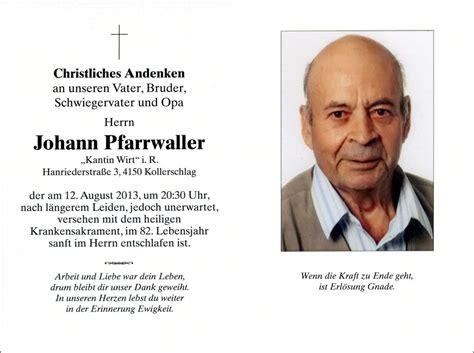 Kalender Jänner 2018 Pfarre Kollerschlag Verstorbene 2013