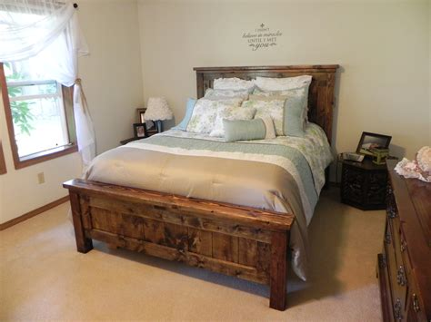 farmhouse bed ana white farmhouse queen bed diy projects