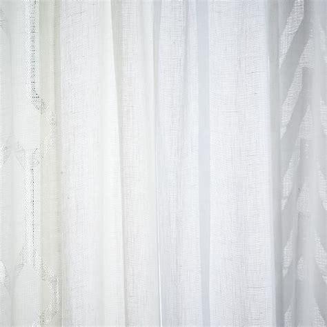 sheer chevron curtains sheer chevron curtain white west elm