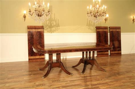 extra large formal mahogany dining table  traditional