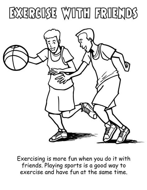 free printable coloring pages exercise fitness coloring pages 9412