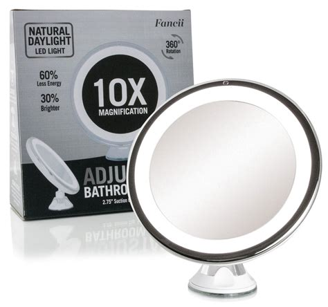 lighted 10x magnifying makeup mirror fancii led lighted 10x magnifying makeup mirror travel