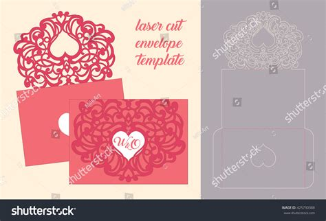 birthday card template and envelope wedding invitation greeting card abstract ornament stock