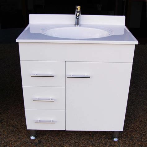 bathroom vanity units on legs daedalus wpl750l 750mm bathroom vanity unit with