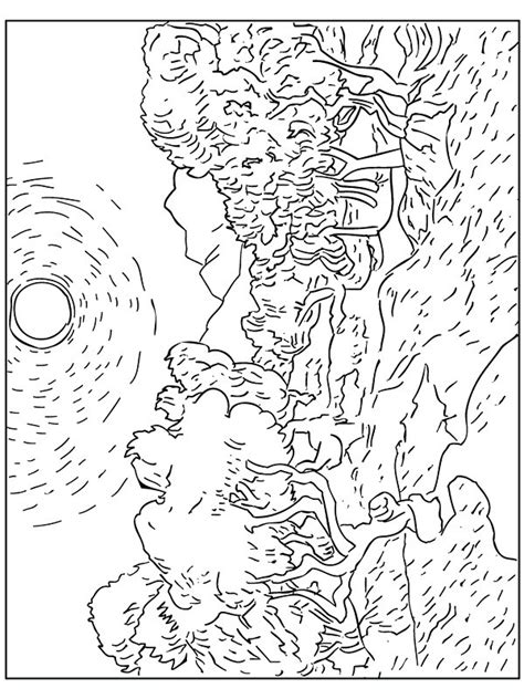 coloring pages for van gogh coloriage van gogh oliviers gif disegni da colorare per