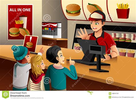 order food ordering food at a restaurant stock vector illustration of consumer 48816781