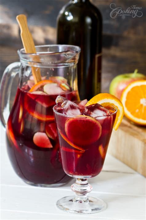 red wine sangria home cooking adventure