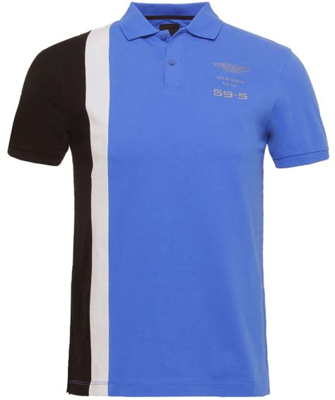 Aston Martin Shirt by Hackett Blue Aston Martin Racing Polo Shirt Available At