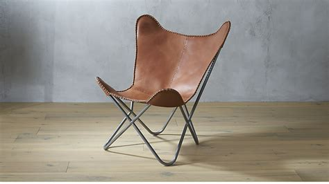 Cb2 Chair 1938 Tobacco Leather Butterfly Chair Cb2