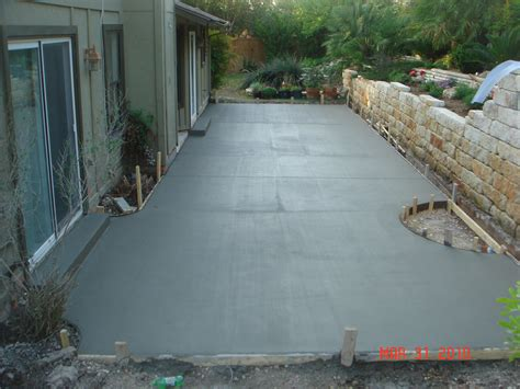 how to cement backyard concrete patios easter concrete construction our work
