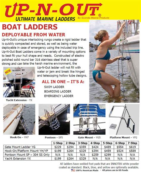 boat ladder holder up n out boat ladders in british columbia alberta canada