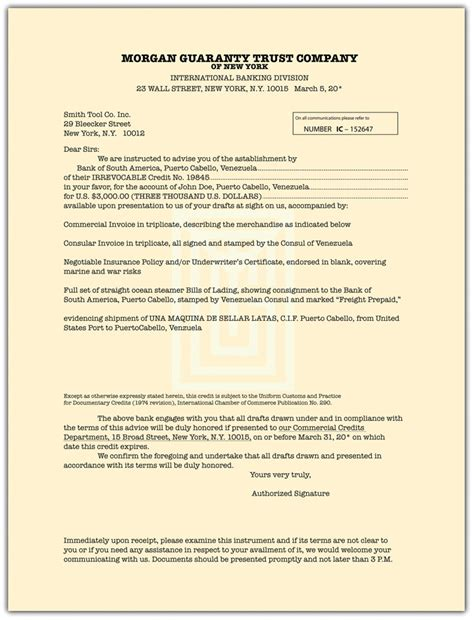 Ministry Of Finance Letter Of Credit Wholesale Transactions And Letters Of Credit