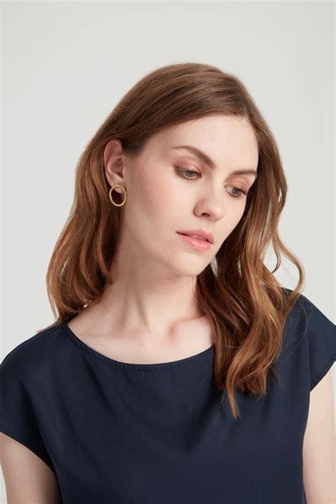 Spon Circle Ospon Foundation Brass Circle Of The Shine tree simple circle earrings
