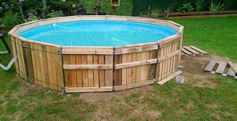 pool bauen pool aus paletten selber bauen wichtige tipps und ideen