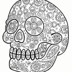 free sugar skull coloring pages printables pinterest