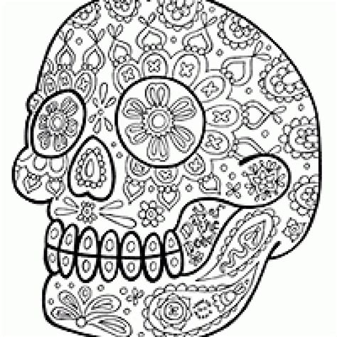 sugar skull coloring page free free coloring pages of sugar skulls